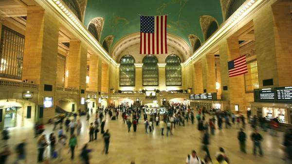 Grand Central Station, New York City - timelapse Royalty-free stock video