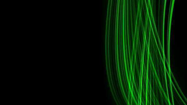 Looping animation of green light rays. Royalty-free stock video