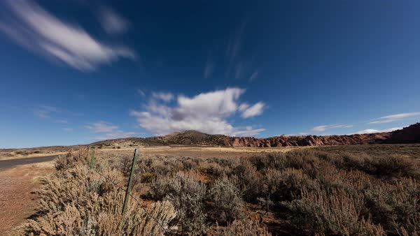 Clouds move over a mesa near Zion. Royalty-free stock video