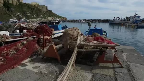 Drone shot of Procida, Italy Royalty-free stock video