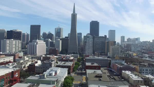 Aerial video of the San Francisco sky line Royalty-free stock video