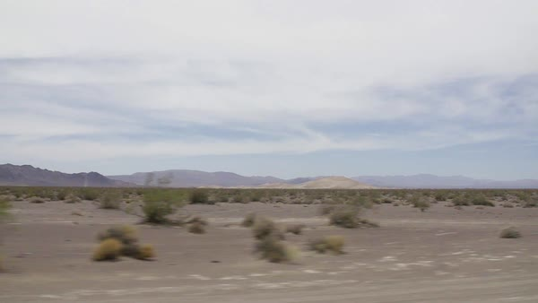 POV shot of a desert from a car Royalty-free stock video