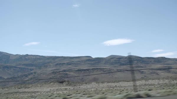 POV shot of mountains from a car Royalty-free stock video