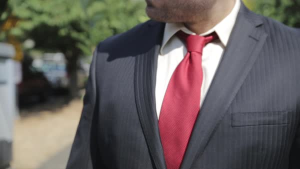 Close-up shot of a businessman checking the time Royalty-free stock video