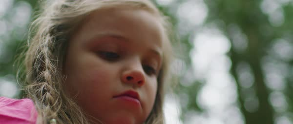 Portrait of a small girl in nature Royalty-free stock video