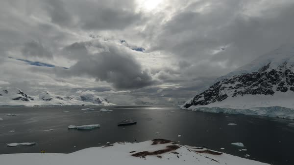 Timelapse of an Antarctic landscape Royalty-free stock video