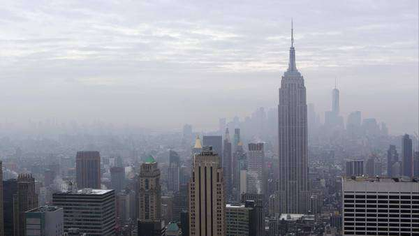 Manhattan, New York - March, 2015: Static view of the Manhattan Skyline. Royalty-free stock video