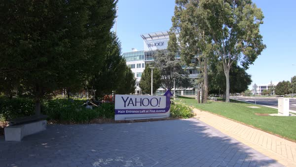 Sunnyvale, California, United States - August 12, 2018: Yahoo Headquarters  office building  Yahoo is a multinational technology company that is known