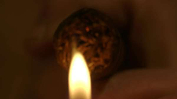 Extreme closeup of lighting up a cigar Royalty-free stock video