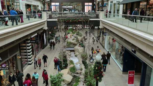 Christmas Shopping Indoor Luxury Mall Hd Stock Video Footage