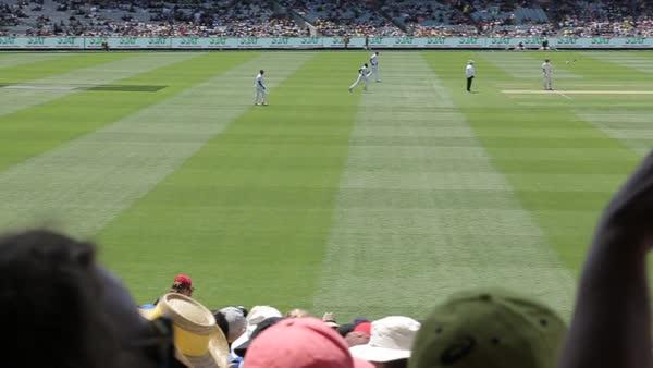Boxing Day Test Match, Melbourne Cricket Ground (MCG), Melbourne, Victoria,  Australia stock footage