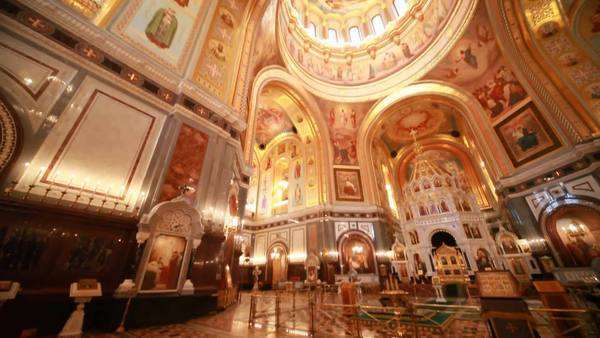 Overview Of Richly Ornamented Hall Inside Cathedral Of Christ The D25416643