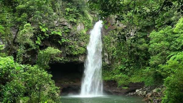 Beautiful Bouma Falls On Taveuni Island In Fiji Surrounded With D256 4 100
