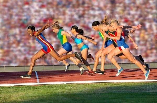 Runners Finish Line Stock Dissolve