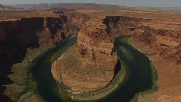 Aerial view of Grand Canyon Horseshoe Bend and Colorado River Arizona, United States Royalty-free stock video