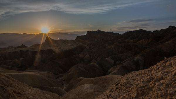 Timelapse of a sunset at Zabriske Point in Death Valley California Royalty-free stock video