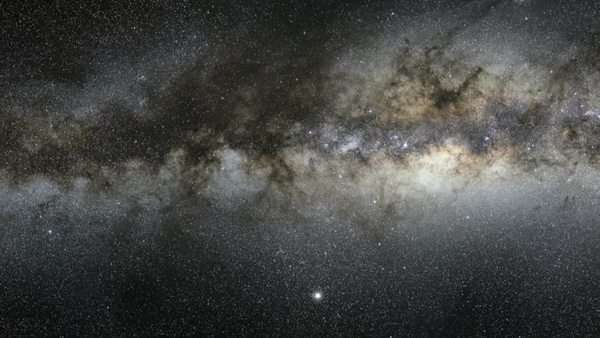 Zoom and pan over the Milky Way galaxy. Rights-managed stock video