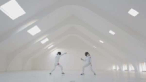 Professional fencers in a training session. Royalty-free stock video