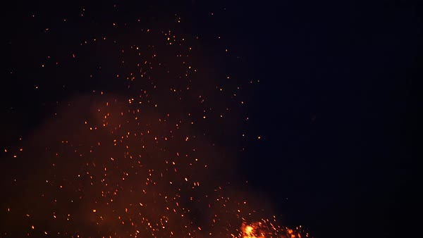 Hand-held shot of fire and sparks Royalty-free stock video