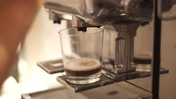 Close-up shot of barista making coffee Royalty-free stock video