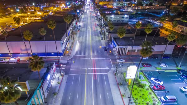Hyperlapse of an intersection in Los Angeles Royalty-free stock video