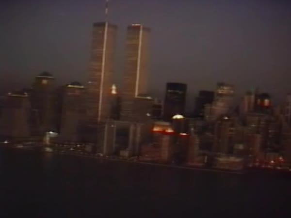 New York, Twin Towers, World Trade Center, 80's footage Royalty-free stock video