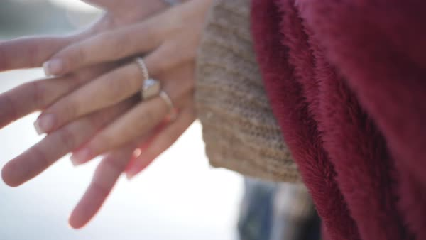 Close up shot of a couple holding hands Royalty-free stock video