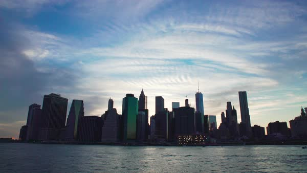 Static shot of a cityscape of Lower Manhattan  Royalty-free stock video