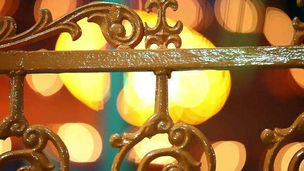 Close up shot of an ornate fence in India Royalty-free stock video