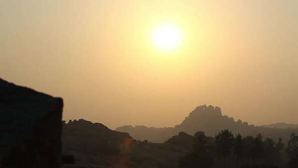 Wide shot of a sunset in India Royalty-free stock video