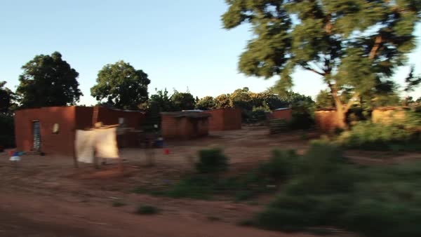 Point of view shot of small village in Africa Rights-managed stock video