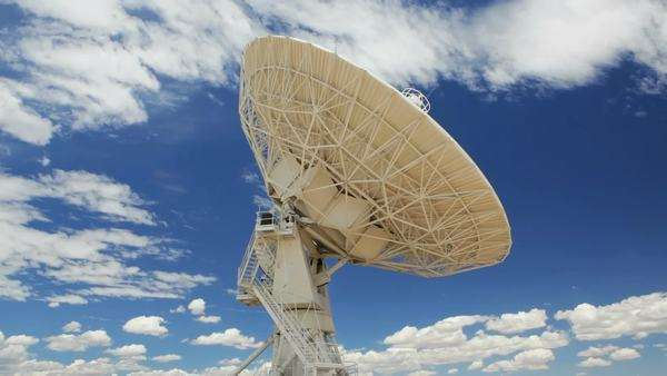 Very Large Array Antenna, timelapse, New Mexico Royalty-free stock video