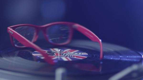 Glasses on turntable Royalty-free stock video