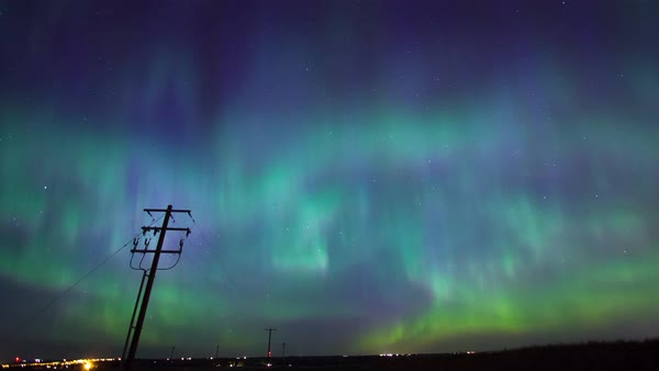 Wide shot of the Northern Lights in Canada Royalty-free stock video