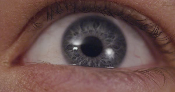Hand-held shot of an opening eye Royalty-free stock video