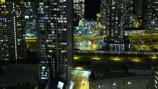 Timelapse shot of downtown Toronto at night Royalty-free stock video