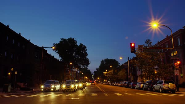 Timelapse of traffic on a street in Philadelphia Royalty-free stock video
