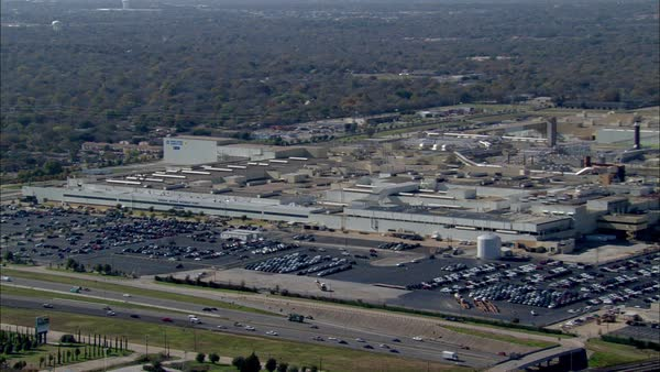 Aerial view of industrial buildings in Texas Royalty-free stock video