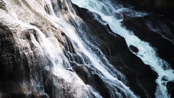 Medium shot of a waterfall in Wyoming, USA Royalty-free stock video
