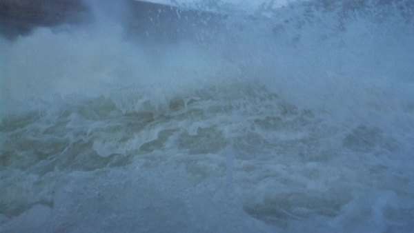 White water rafting raft through rough water, British Columbia, Canada. Rights-managed stock video
