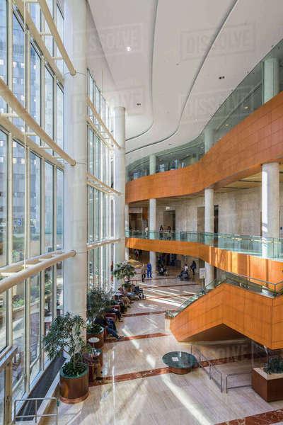 Lobby Of Gonda Building At Mayo Clinic Rochester