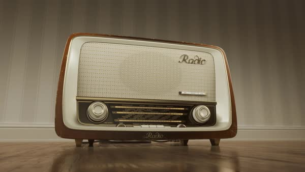 Close-up Of Brown Vintage Old Fashioned Radio With Dials ...