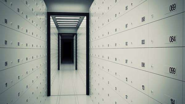 Safe Deposit Lockers In A Bank Royalty-free stock video