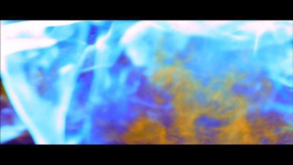 Exploding cosmic dance of color and light - fire in slow motion Royalty-free stock video