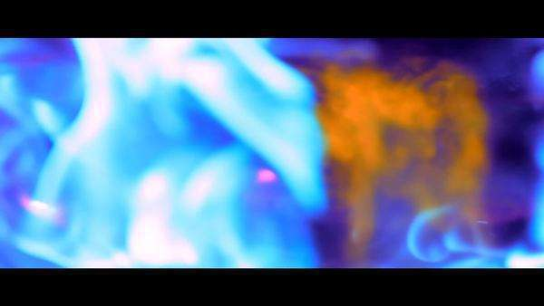 Exploding cosmic dance of color and light – fire in slow motion Royalty-free stock video