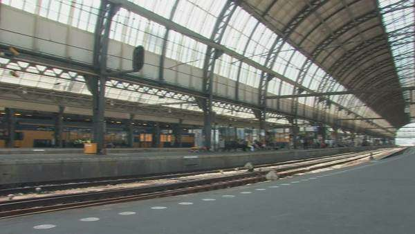 Amsterdam train station, interior Royalty-free stock video