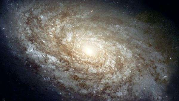 Spiral galaxy NGC 4414 Royalty-free stock video