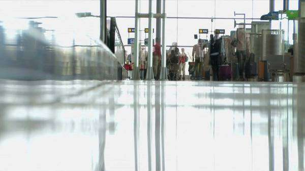 Airport interior, surface level view Royalty-free stock video