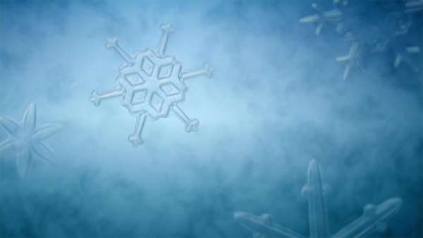 Animated growing ice crystals. Royalty-free stock video
