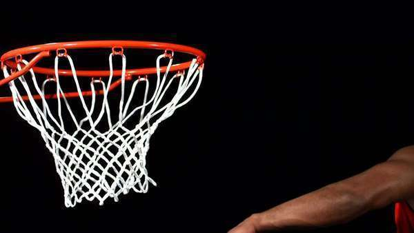 Basketball slam dunk, slow motion Royalty-free stock video